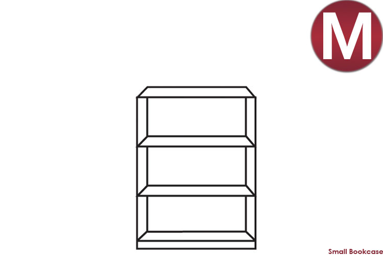 white Small Bookcase