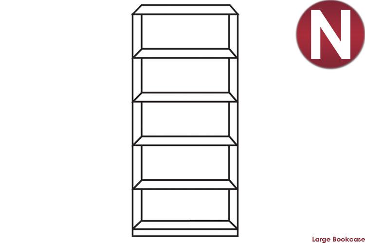 white Large Bookcase