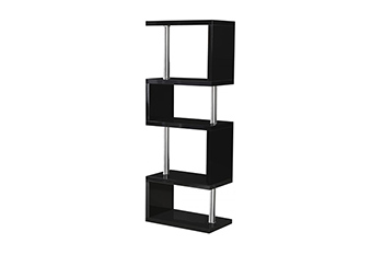 charisma 5 shelf unit-black
