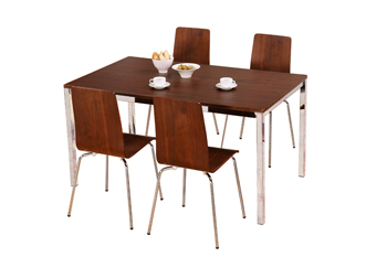 walnut rectangular table + 4