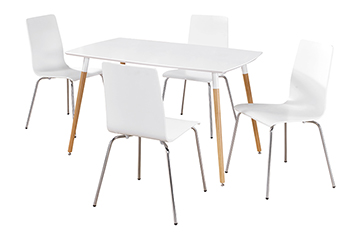 swan table + 4 chairs