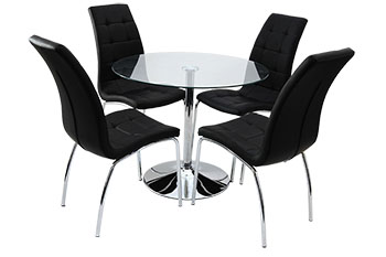 verona round table+4 chairs
