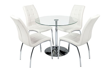 verona round table + 4 chairs