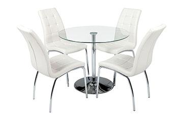 verona round table+4 chairs