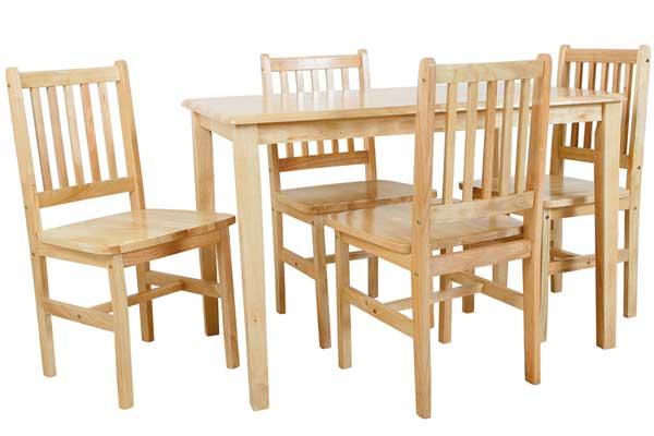 malaya table + 4 chairs