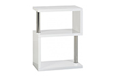 charisma 3 shelf unit-white