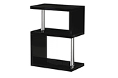 charisma 3 shelf unit-black
