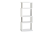 charisma 5 shelf unit-white