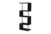 charisma 5 shelf unit-black