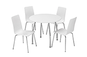 Dove Round table + 4 chairs
