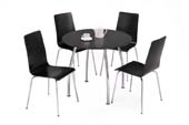 raven table + 4 chairs
