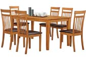 shaker table + 6 chair brown