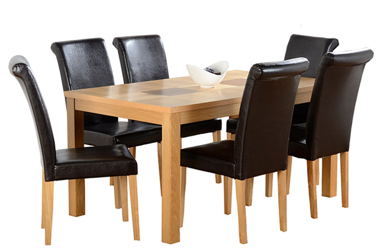 dunoon table + 6 chairs
